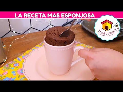 MINITORTA DE CHOCOLATE EN EL MICROONDAS EN 3 MIN