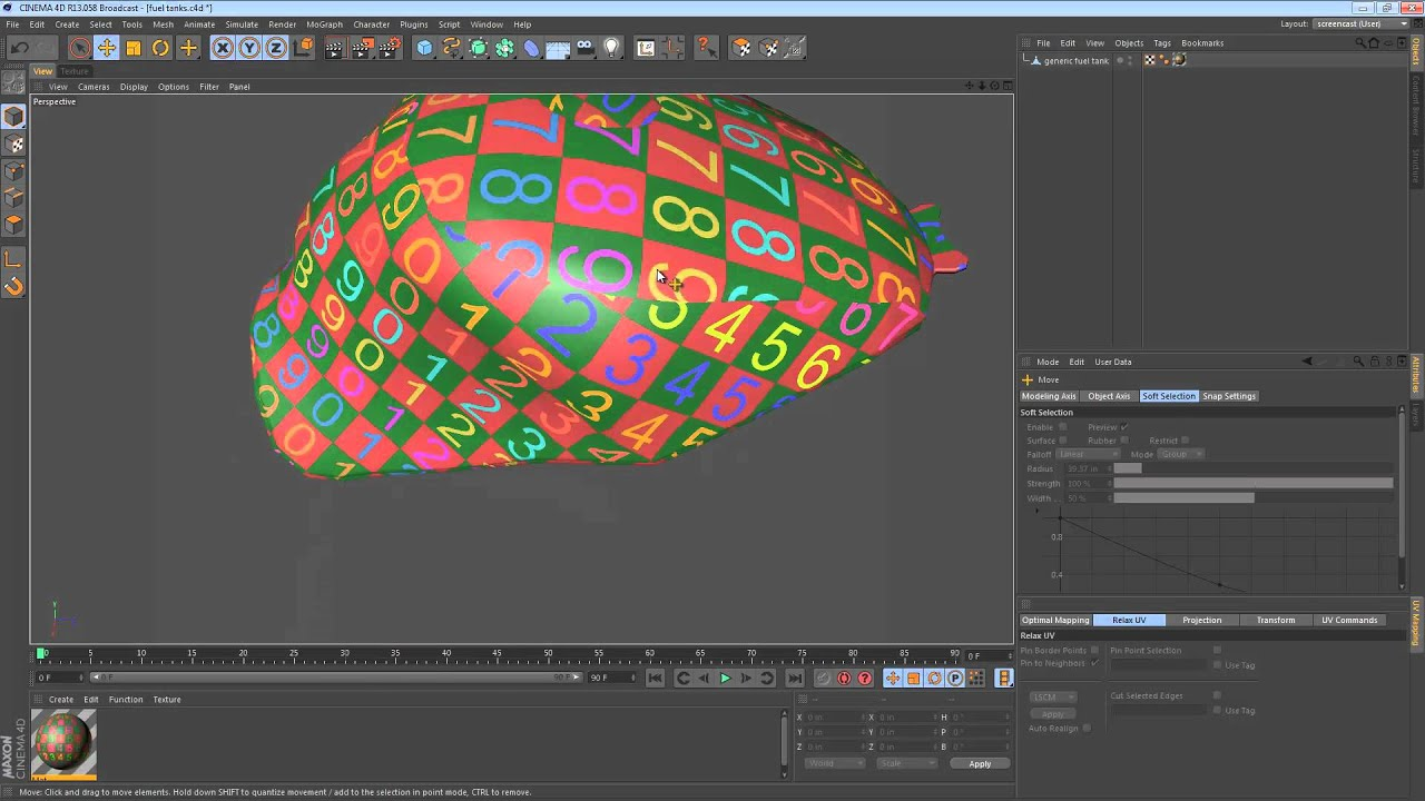 UV mapping In Cinema 4D - TEXTURING & UVs - C4D Cafe