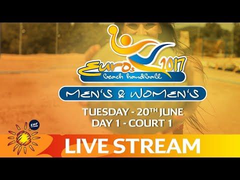 Re-Live: Beach Handball EUROS   Day 1 - Court 1   Zagreb, Croatia