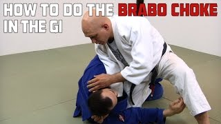 Step-by-step instructions for doing the Brabo Choke from half guard...
