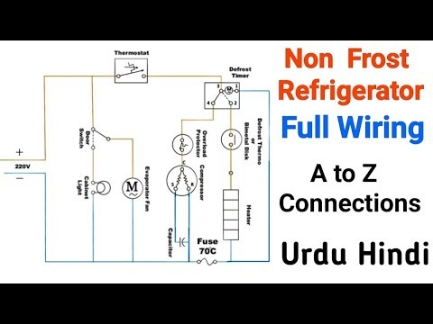 [FPER_4992]  Non frost refrigerator full electric wiring connections - YouTube | Wiring Diagram Of No Frost Refrigerator |  | YouTube