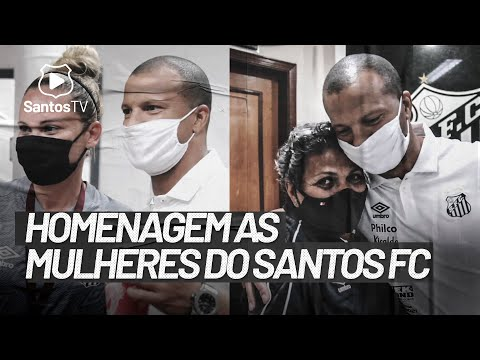 SÁNCHEZ HOMENAGEIA MULHERES DO SANTOS FC