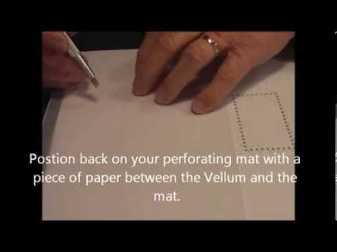 PCA Parchment Craft - Fine 3 x 4 Quad & grid  border demo