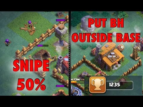 How to Reach 1200 trophies with 2 Army Camps - Builder Hall Key to Success
