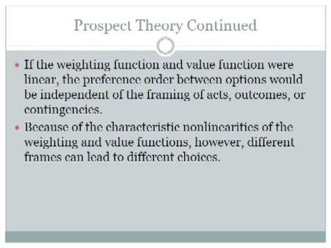 the framing of decisions and the psychology of choice