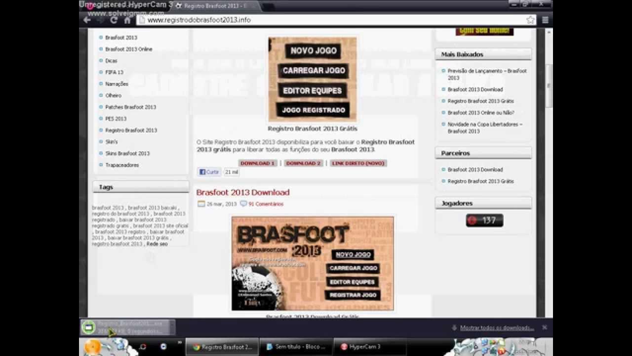 GRATIS BRASFOOT BAIXAR DO O REGISTRO 2013