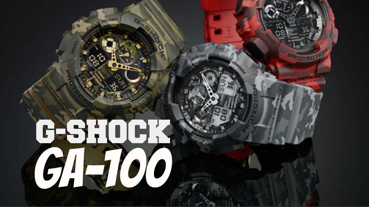 dc3a2da2589f Relógio CASIO G-SHOCK GA-100 - Review em Português - YouTube