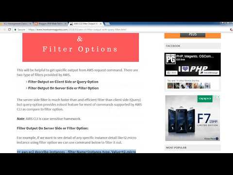 AWS CLI Filter Output With Query & Filter Options - YouTube