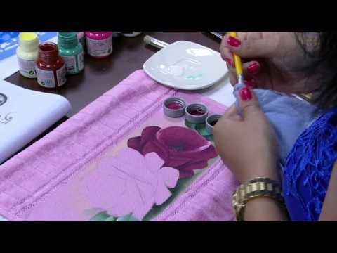 Pintura de Rosas por Ana Laura Rodrigues - 26/11/2015 - Mulher.com -  Parte 1/2