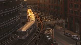 9 Hours Sounds of Chicago, Ambience 3D City Noises of Downtown HD