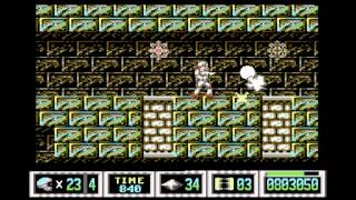 C64 Turrican II level 4-1 music w/gameplay