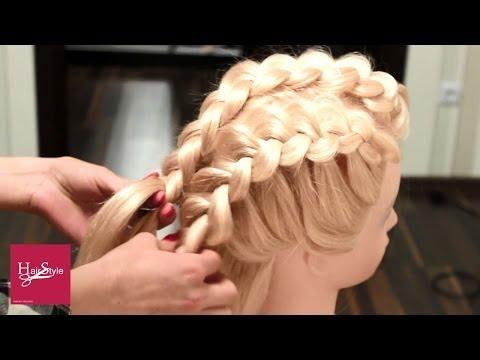 Прическа с плетением колосок на каждый день. Плетение косы. Everyday hairstyle tutorial.