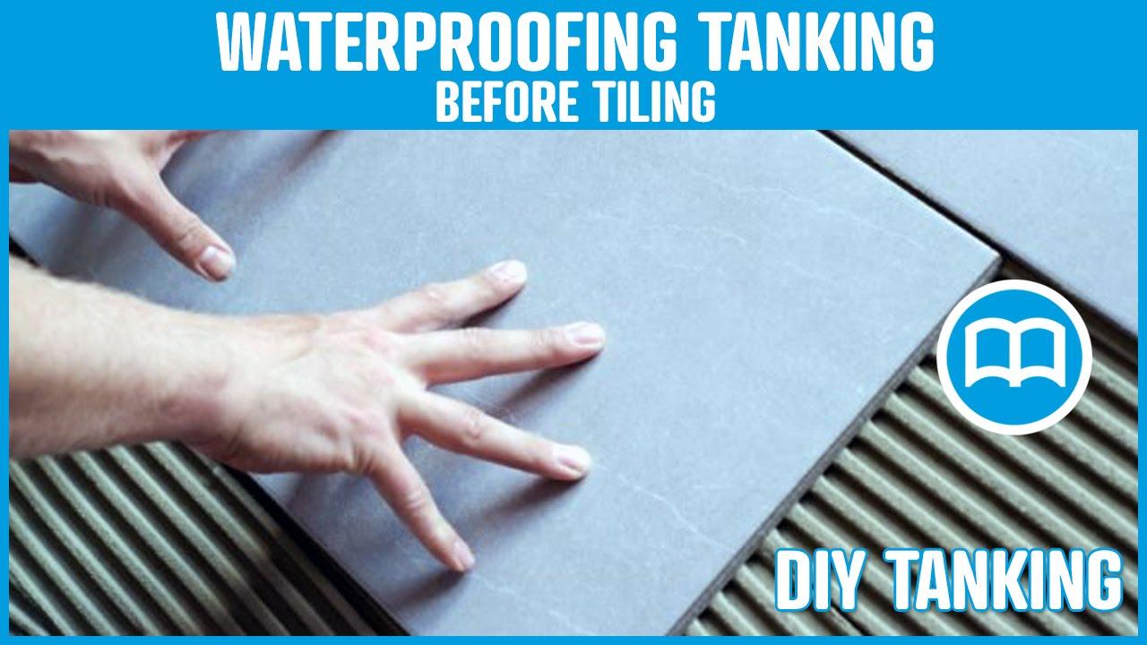 Waterproofing bathroom tile - Waterproofing Under Tiles Bathrooms Terraces Swimming Pool Shower Floor