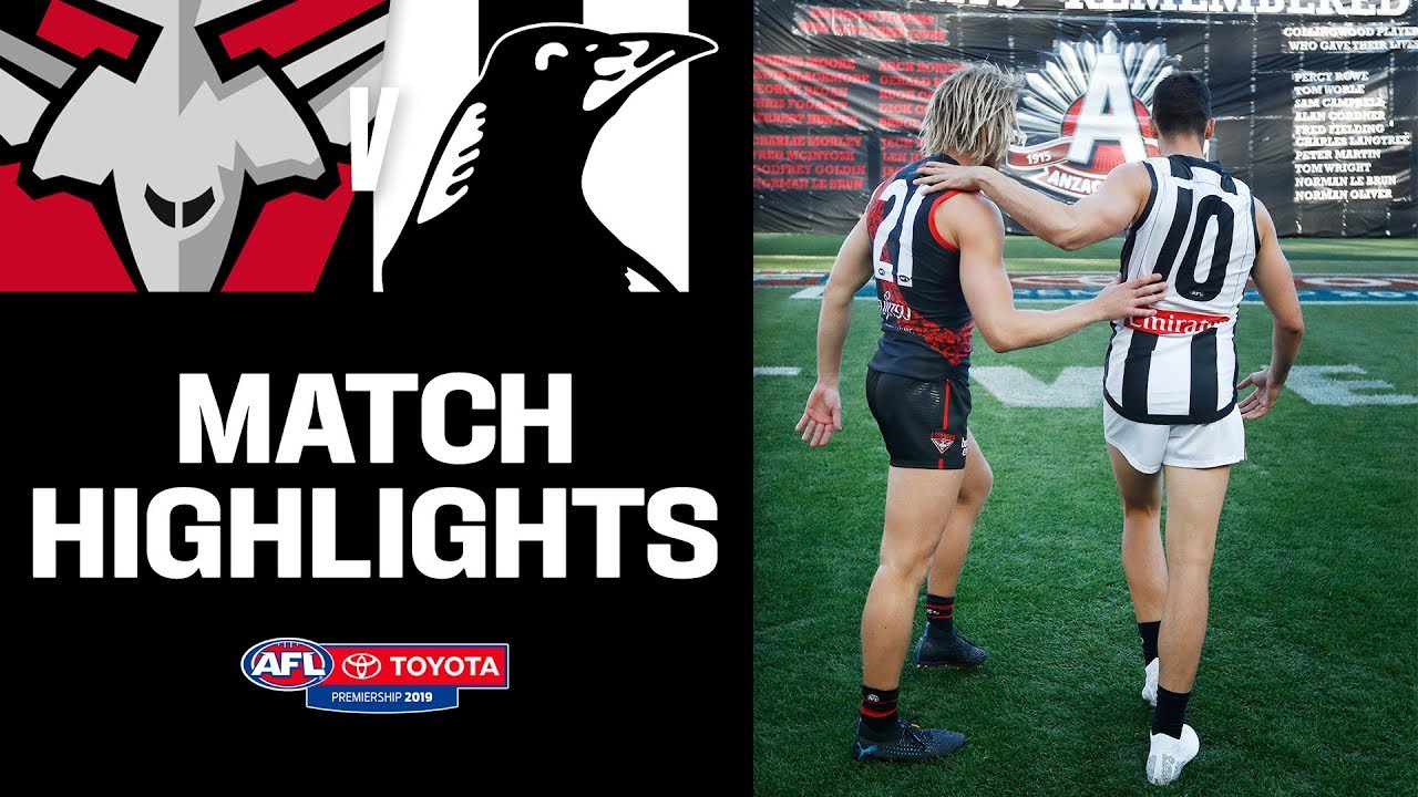 All-time Anzac Day thriller   Essendon v Collingwood ...