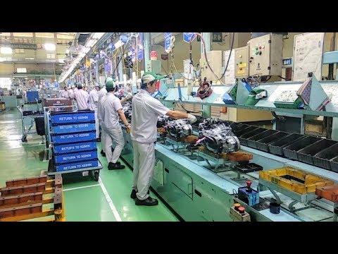 Proses Perakitan Motor Honda Di Pabrik Ahm Cikarang Youtube
