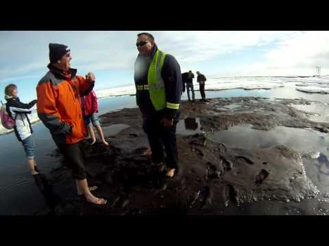 Walking barefoot in the arctic ocean