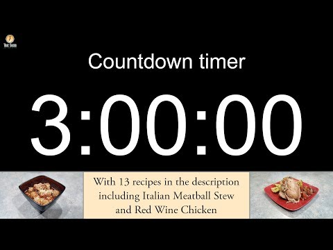3 hour Countdown timer (with alarm)