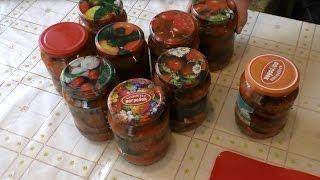 Домашнее консервирование, Баклажаны Острые с Овощами