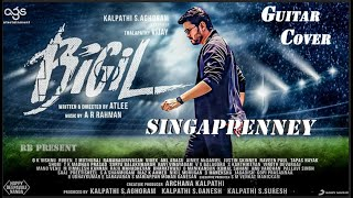 Bigil - Singappenney music cover  | Thalapathy Vijay, Nayanthara | A.R Rahman | Atlee | AGS