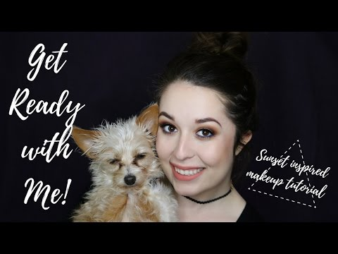 GET READY WITH ME!   SUNSET INSPIRED MAKEUP TUTORIAL