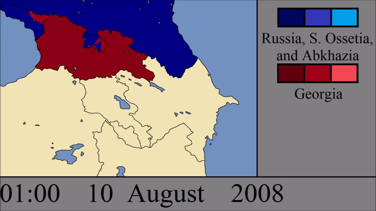 Soviet Georgia Map.The Russo Georgian War Every Hour Youtube