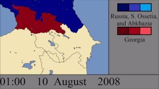 The Russo - Georgian War: Every Hour