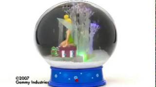 "10"" Animated Snow Globe Tinker Bell"