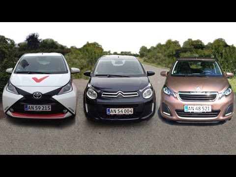 Toyota Aygo Citroen C1 Peugeot 108 2014 Review Eng