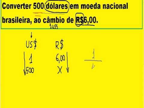 Conversão De Dólar Em Real Pela Taxa Câmbio Vigente Entre As Moedas Norte Americana E Brasileira