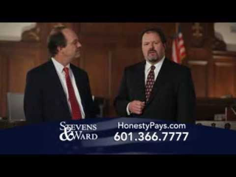 "Mississippi personal injury lawyers describe ""Honesty Pays"" in a familiar courtroom setting."