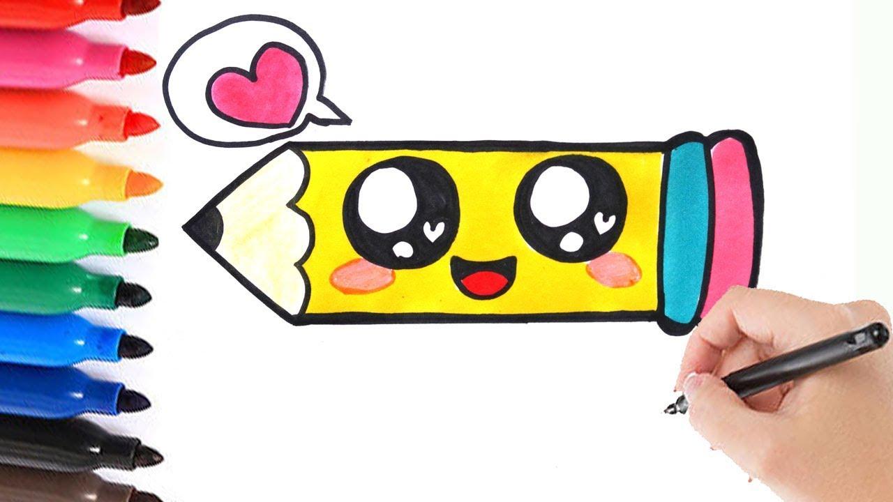 hoe teken je een schattige potlood schattig leren tekenen