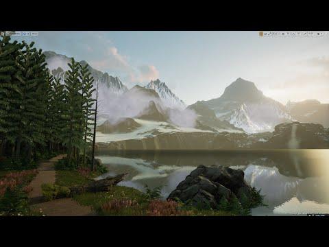 UE4 Tutorial) How to create an Alpine Lake Scene in Unreal Engine 4