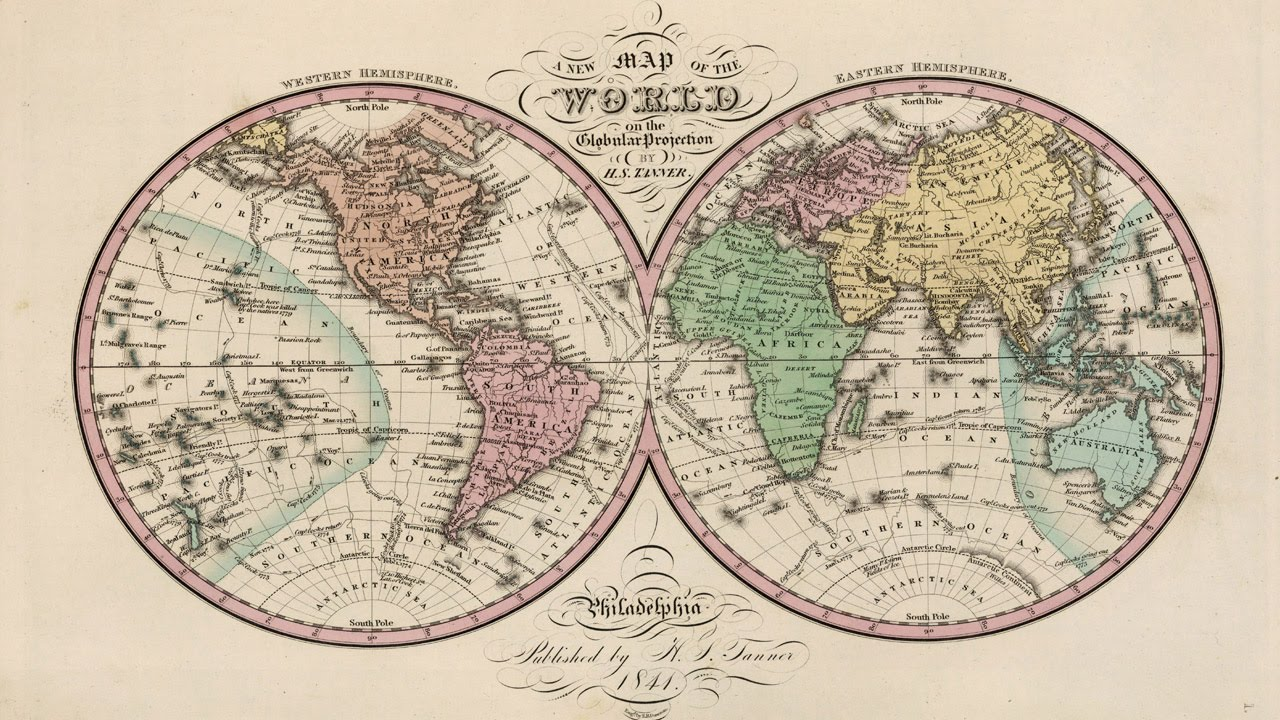 Free Downloadable World Map.World Map 1842 Free Downloadable Image Youtube