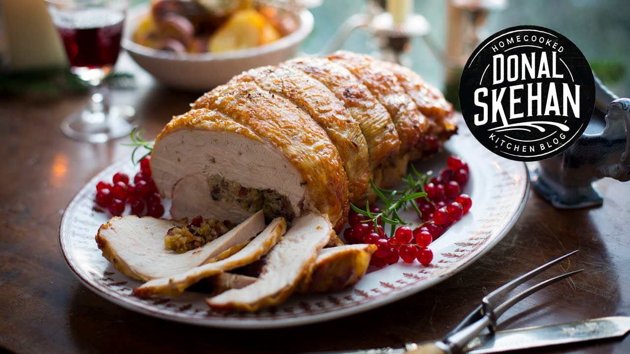 Roasting single turkey breast stuffed