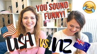DIFFERENT ENGLISH ACCENTS | American Accent vs. New Zealand Accent Challenge