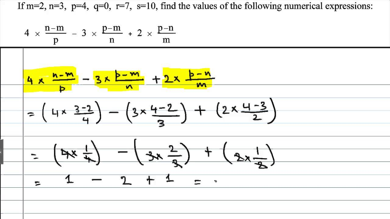 how to find the value in algebra