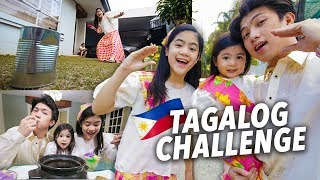 SPEAKING TAGALOG VLOG CHALLENGE?!! | Ranz and Niana