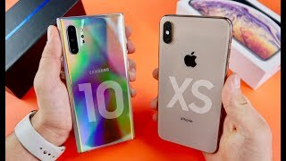 samsung galaxy note 10 plus vs iphone xs max speed test camera comparison