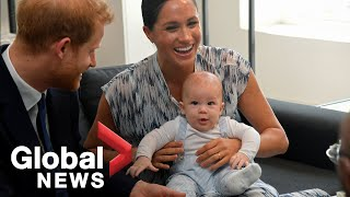 Meghan Markle, Prince Harry bring baby Archie to meet Tutu on Africa royal tour