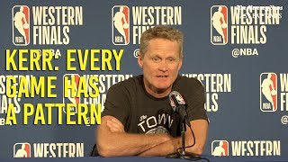 NBA Playoffs: Kerr says every game has a pattern