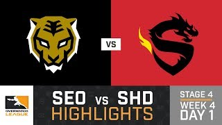 HIGHLIGHTS Seoul Dynasty vs. Shanghai Dragons | Stage 4 | Week 4 | Day 1 | Overwatch League