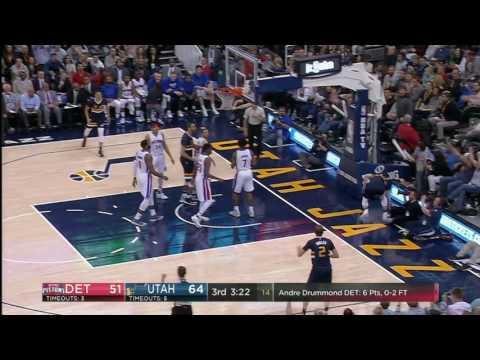 Detroit Pistons vs Utah Jazz | January 13, 2017 | NBA 2016-17 Season