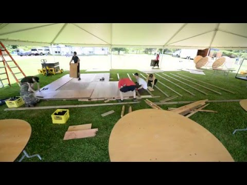 Time Lapse - Wedding Dance Floor Setup