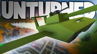 AN ACTUAL FLYING TANK PLANE... WAT | Unturned Mod Showcase Funny Moments