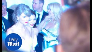 Taylor Swift and Lorde look sleek at Golden Globes afterparty - Daily Mail