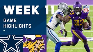 Cowboys vs. Vikings Week 11 Highlights | NFL 2020