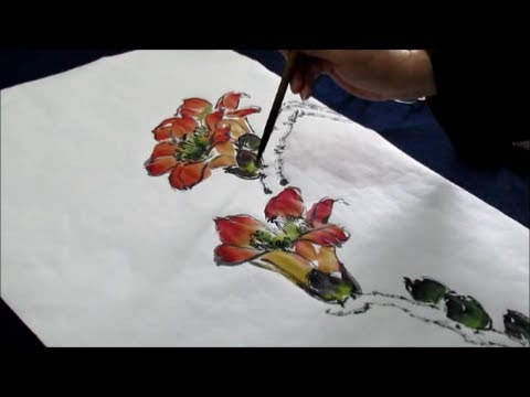 Chinese Brush Painting Instruction Lesson