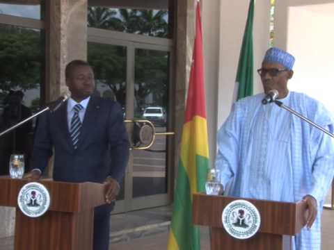 President Muhammadu Buhari Receives Togolese President Faure Gnassingbe At The Presidential Villa
