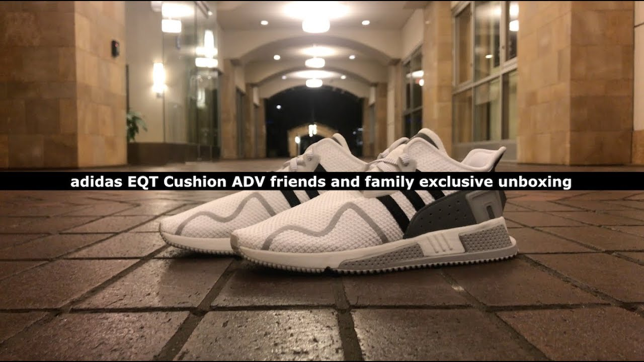 new arrival f41bf 691e7 Unboxing Friend and Family Exclusive adidas EQT Cushion ADV 91-17 ...