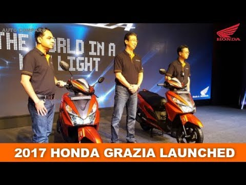 ALL NEW HONDA GRAZIA SCOOTER LAUNHCED IN 3 VARIANTS.
